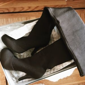Report Bryson Over The Knee Stretch Boots NEW!
